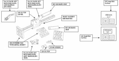 Jack Bar Replacement Parts