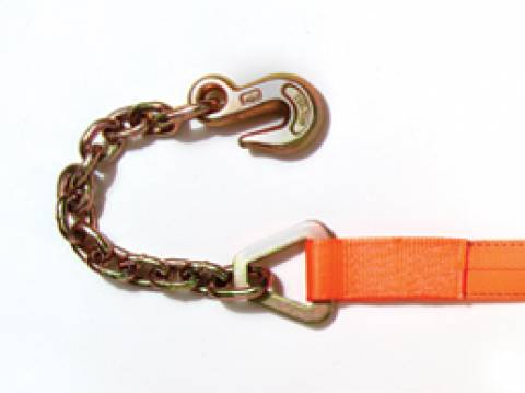Winch Strap With Chain Anchor