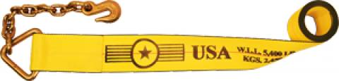 """4"""" Winch Strap with Chain Extension"""