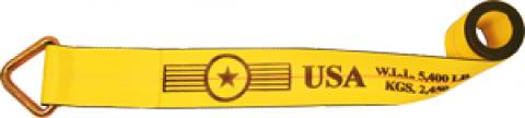 """4"""" Winch Strap with D-Ring"""