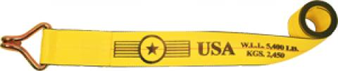 """4"""" Winch Strap with Wire Hook"""