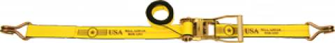 "2"" Long Wide Handle Ratchet Strap - Wire Hooks"